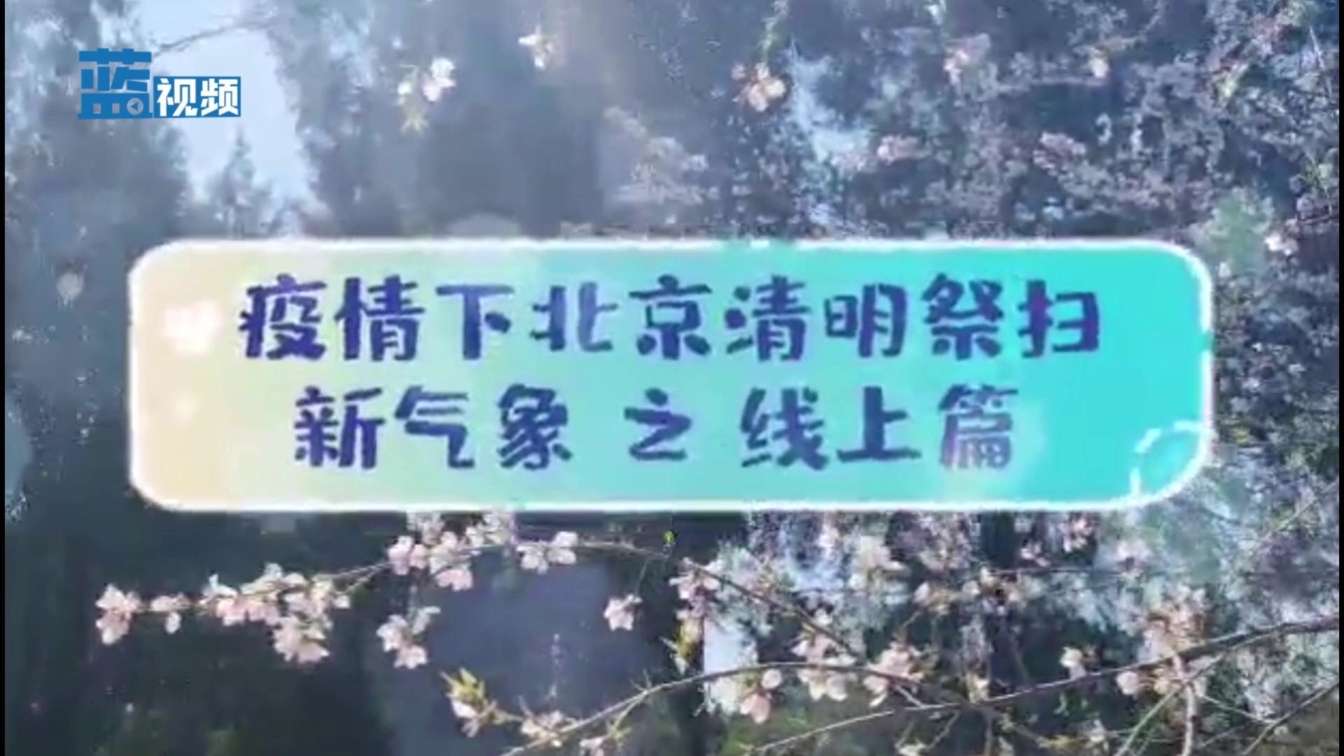 疫情下北京清明祭扫新气象 之 线上篇